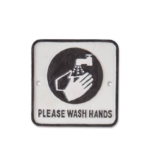 63419 アイアンプレート WASH HANDS