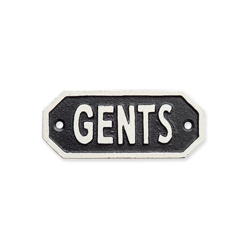 63574 サインプレート GENTS ブラック