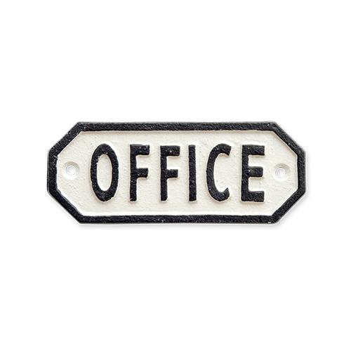 63579 サインプレート OFFICE ホワイト